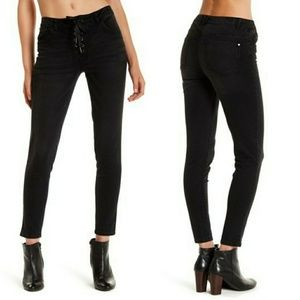 Jolt Jeans Black Skinny Lace Up Front Juniors 5 27